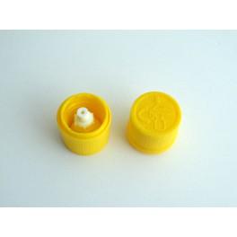 Tapón gotero amarillo cierre seguridad