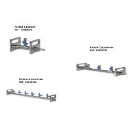 Rampas de filtración acero 1-3-6 posiciones