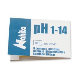Papel pH 1-14 C/ 80 tiras