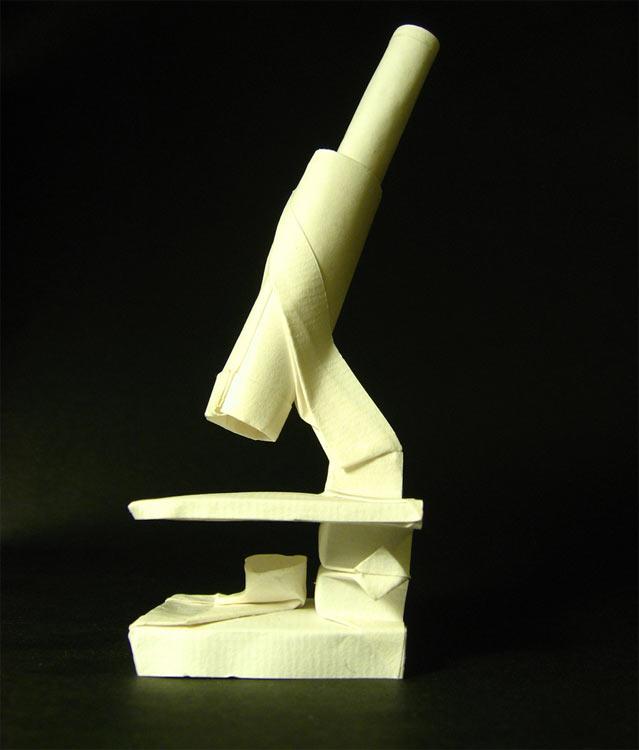 Microscopio origami